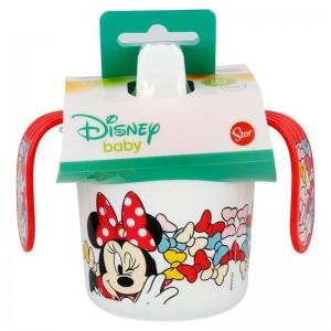 Taza Aprendizaje Minnie Disney Color Bows  Alimentacion y Lactancia - La Cesta Mágica