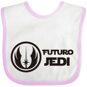 Babero Jedi para bebé - Rosa  Alimentacion y Lactancia - La Cesta Mágica