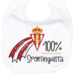 Babero Sporting de Gijón para bebé  baberos - La Cesta Mágica