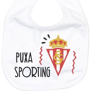 Babero Puxa Sporting de Gijón para bebé  baberos - La Cesta Mágica