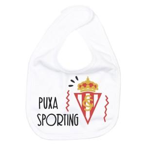 Babero Puxa Sporting de Gijón para bebé  Accesorios bebé - La Cesta Mágica