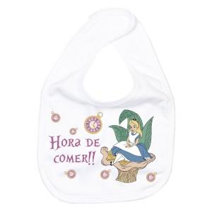 Babero Alicia en el pais de las Maravillas  Accesorios bebé - La Cesta Mágica