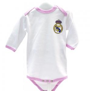 Pack 2 Bodys Manga Larga niña Real Madrid  Ropa Bebé - La Cesta Mágica
