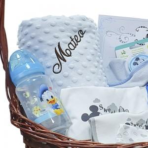 Canastilla para bebé Amor Mickey  Canastillas para bebes - La Cesta Mágica