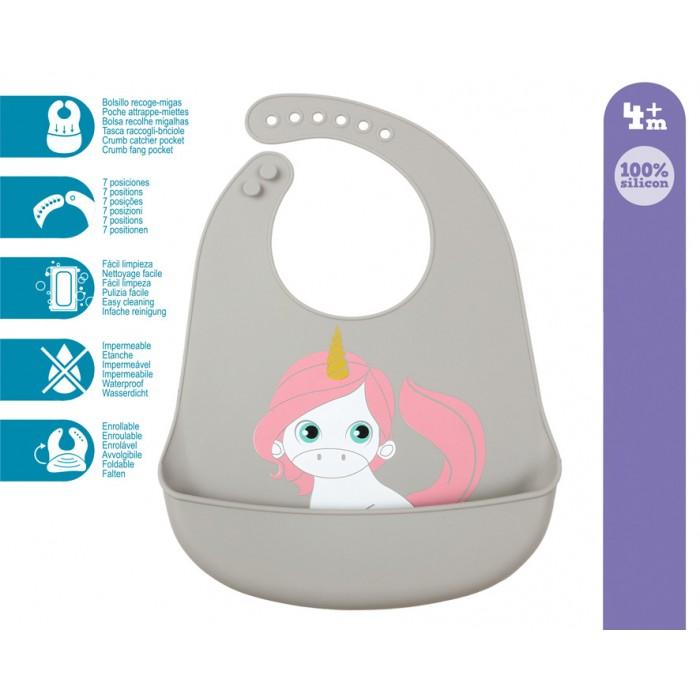 Babero Silicona Unicornio  Alimentacion y Lactancia - La Cesta Mágica