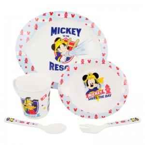 Vajilla Micro 5 piezas Mickey  Alimentacion y Lactancia - La Cesta Mágica