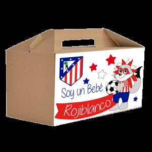 Caja Regalo Bebe Atletico de Madrid  Canastillas para bebes - La Cesta Mágica