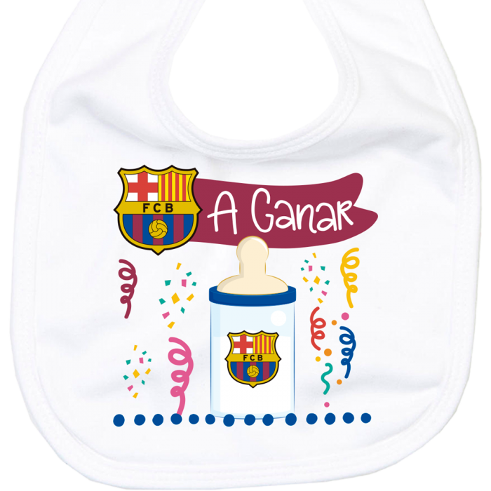 Babero FC Barcelona a ganar  baberos - La Cesta Mágica