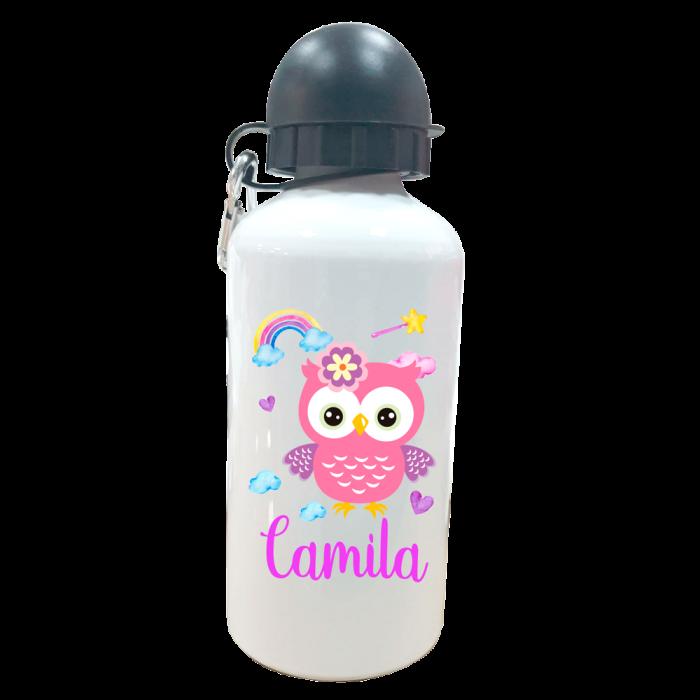 Botella Personalizada Buhita  Botellas aluminio - La Cesta Mágica