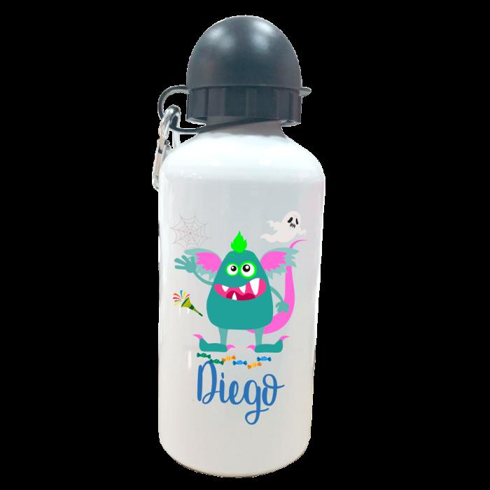 Botella Personalizada Monstruito  Botellas aluminio - La Cesta Mágica