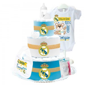 Tarta de Pañales Real Madrid II  Tartas de Pañales - La Cesta Mágica