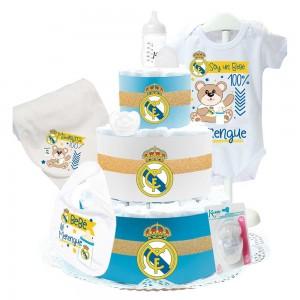 Tarta de Pañales Real Madrid III  Tartas de Pañales - La Cesta Mágica