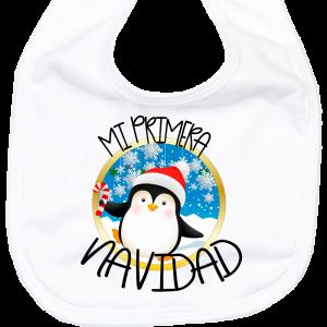 Babero Mi Primera Navidad Pinguino  baberos - La Cesta Mágica