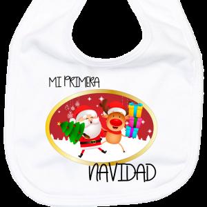 Babero Mi Primera Navidad  baberos - La Cesta Mágica