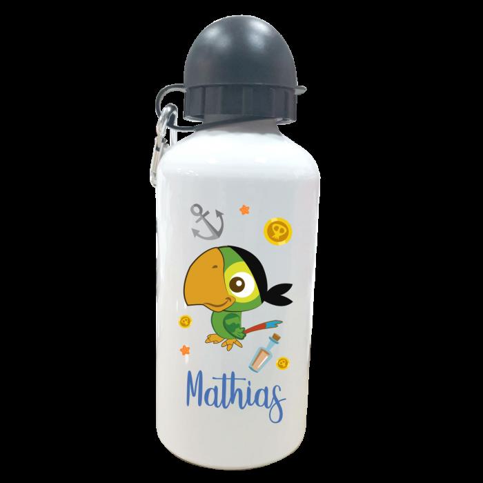 Botella Personalizada Loro  Botellas aluminio - La Cesta Mágica