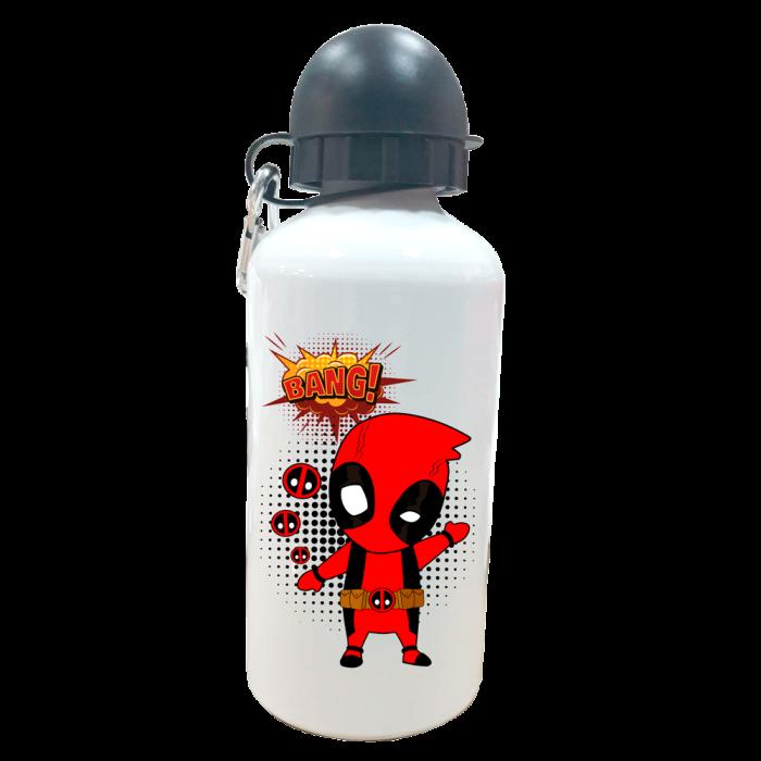 Botella Personalizada Deadpool  Botellas aluminio - La Cesta Mágica