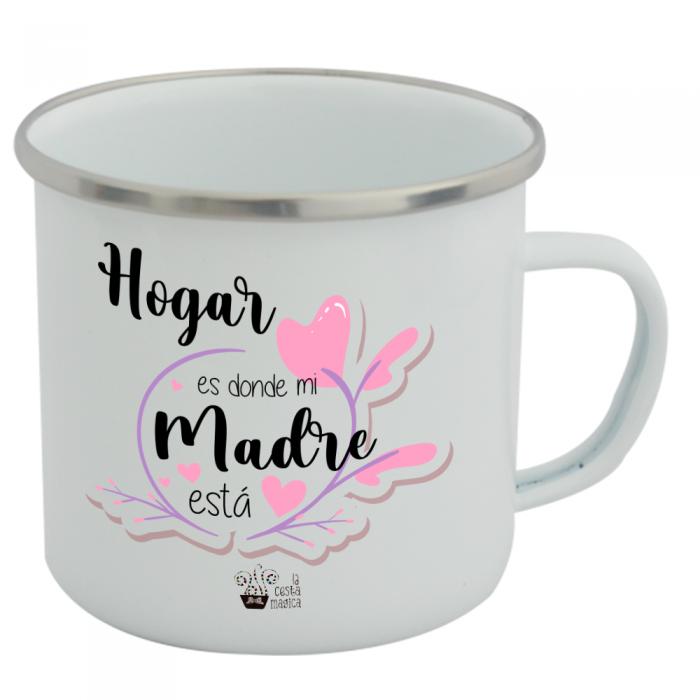Taza Vintage Hogar es donde..  Tazas Vintage - La Cesta Mágica